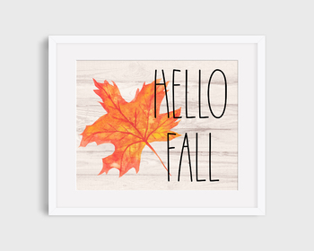 Printable Fall Classroom Sign