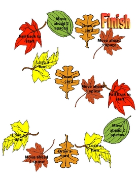 Printable Fall Gameboard
