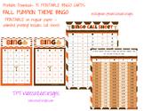 Printable Fall Pumpkin Bingo Game for classroom Q30 with c