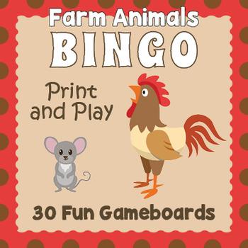 picture relating to Free Printable Farm Animals named Printable Farm Pets Bingo Recreation