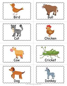 Printable Farm Animals Bingo Game