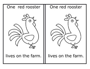 Printable Farm Color and Counting Book