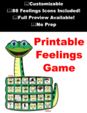 Printable Feelings Game - Customizable - 88 feeling Icons Included! No Prep!
