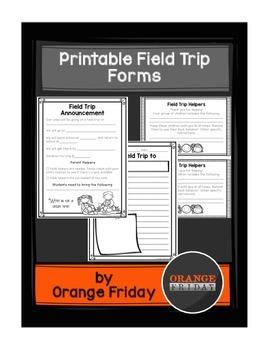 Printable Field Trip Forms
