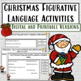 Christmas Figurative Language Activities   DIGITAL and PRINTABLE