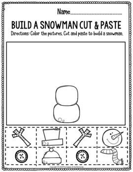 Printable Fine Motor Christmas Preschool Worksheets