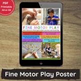 Printable Fine Motor Play Poster for PreK, Childcare, Fami