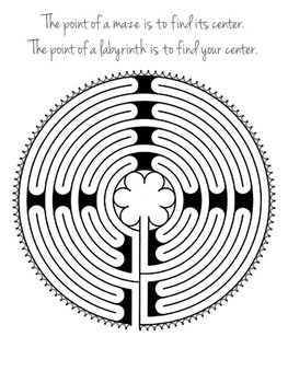 image about Finger Labyrinth Printable called Printable Finger Labyrinth - Mounted 1 - No cost PRINTABLE