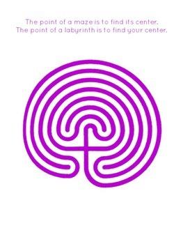 Printable Finger Labyrinth - Set 2 - FREE PRINTABLE