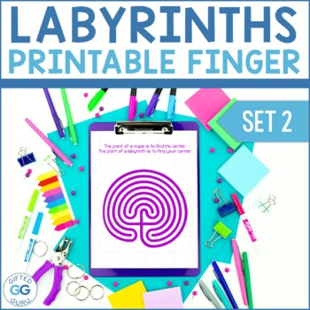 Printable Finger Labyrinth - Set 2 - FREE PRINTABLE