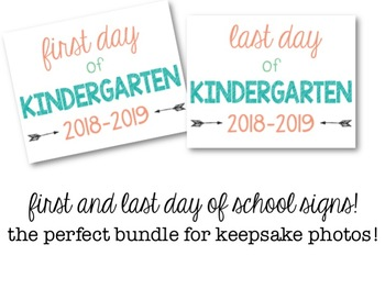 First Day Of Kindergarten Sign 2018 Teaching Resources Teachers
