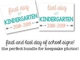 Printable First Day of Kindergarten 2018 Sign: Gender Neutral