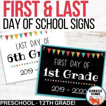 picture regarding First Day of Preschool Free Printable known as Printable To start with Working day of Higher education Indicators, 1st Working day of College 2019-20 Chalkboard Indication
