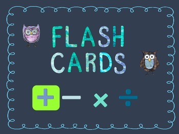 Printable Flash Card Bundle (add & subtract)