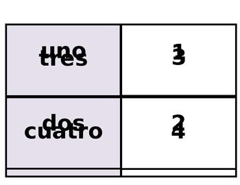Printable Flashcards: Spanish numbers (los números) 0-100