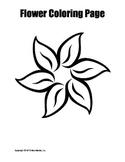 Printable Flower Coloring Pages Bundle