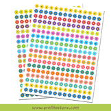 Printable Flower Stickers