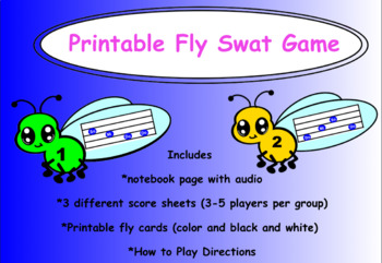 Printable Fly Swat Game - Do Mi So