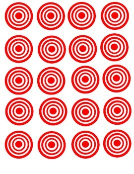 Printable Focus Targets for Posting Daily Teaching Targets