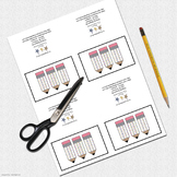 Printable Folded Mini Cards: Patterned Pudgy Pencil Folded Mini Note Card Set