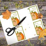 Printable Folded Mini Cards: Pumpkin Patch Folded Mini Not
