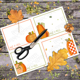 Printable Flat Note Cards: Pumpkin Patch Flat Note Card Set 5
