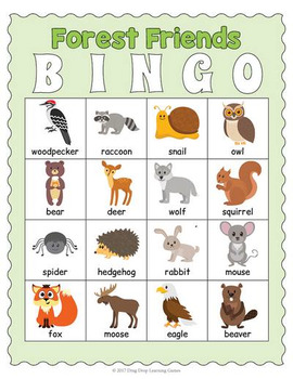 picture about Animal Bingo Printable identify Printable Forest Pets Bingo Sport