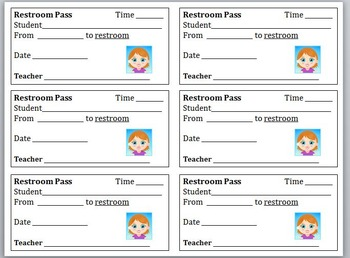 Printable Forms (Certificates, Hall Passes)