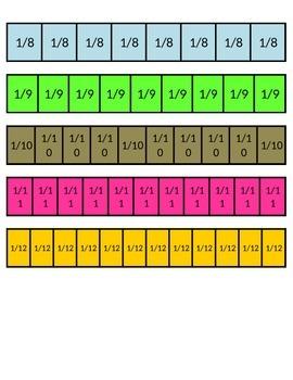 Printable Fraction Bars