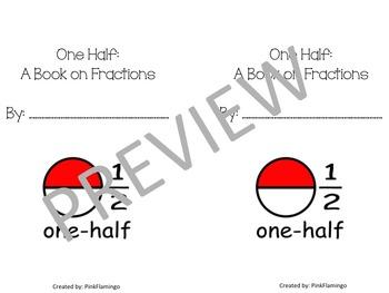 Printable Fraction Book: Half