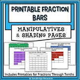 Printable Fraction Manipulatives-Fraction Bars and Shading Pages