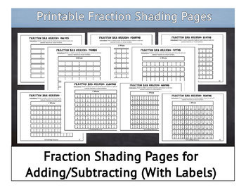 graphic relating to Printable Fraction Bar called Printable Portion Manipulatives-Portion Bars and Shading Internet pages