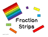 Printable Fraction Strips - Color and Black and White