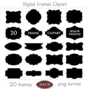 Printable Frames Clipart Borders Clip Art Labels Tags Dott