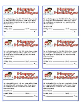 Printable Free Scholastic Book Coupons for Holiday Gifts