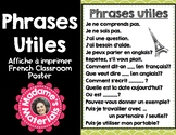Printable French Classroom Poster Useful Phrases - Affiche Phrases Utiles!