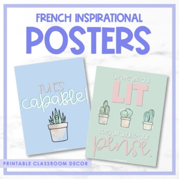 French Growth Mindset Posters VOLUME II - Les affiches inspiratrices