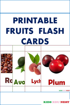 Printable Fruits Flash Cards