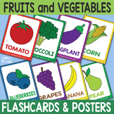 Printable Fruits and Vegetables Flashcards and Posters