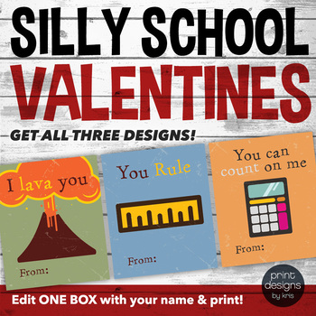 Printable Funny Valentines Day Card - Printable Valentine - School Valentine