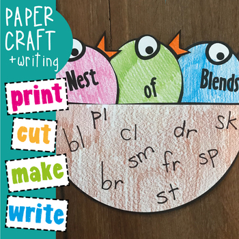 Blends Printable Game - Hungry Birds - Consonant Blends