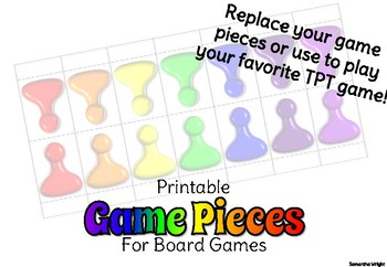 image relating to Game Pieces Printable known as Printable Activity Components via Ideal Parts Lecturers Spend Academics