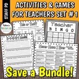 Printable Games for Teachers #1 No-Prep Activities Great f