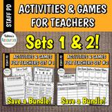 Printable Games for Teachers No-Prep Activities *SUPER BUNDLE*