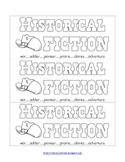 Printable Genre Bookmarks to Color