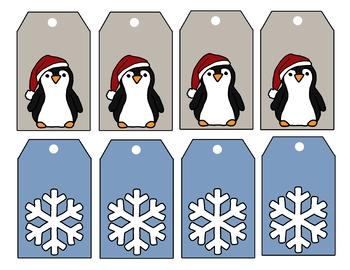 Printable Gift Tags - Christmas and Winter