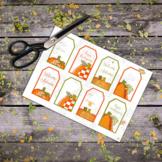 Printable Gift Tags: Cute Pumpkin Clip Art, Autumn Gift Tags