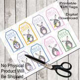 Printable Gift Tags: Easter Clip Art, Gray Bunnies