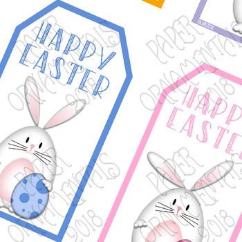 Printable gift tags easter clip art white bunnies printable gift tags easter clip art white bunnies negle Gallery
