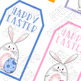Printable Gift Tags: Easter Clip Art, White Bunnies